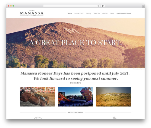 Best WordPress template Hero - manassa.com