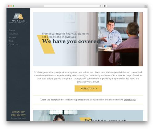 Best WordPress template Morgan - morganplan.com