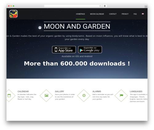 Best WordPress theme Applay - moonandgarden.com