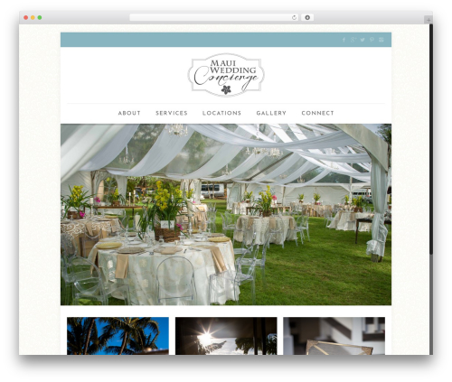 Betheme best wedding WordPress theme - mauiweddingconcierge.net