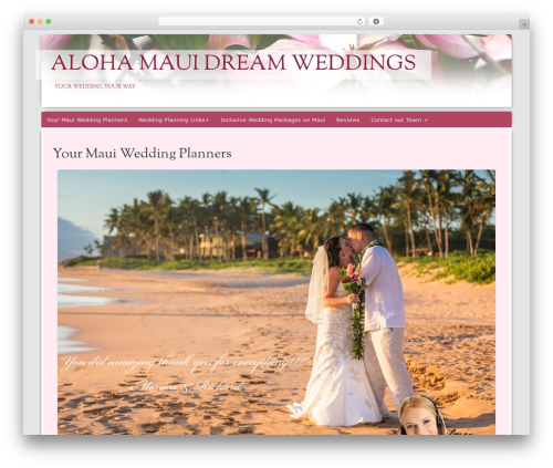 Bouquet best wedding WordPress theme - marriedonmaui.us