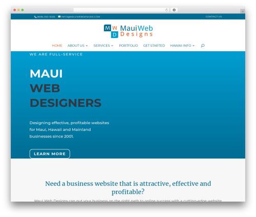 Divi WordPress template for business - mauiwebdesigns.com