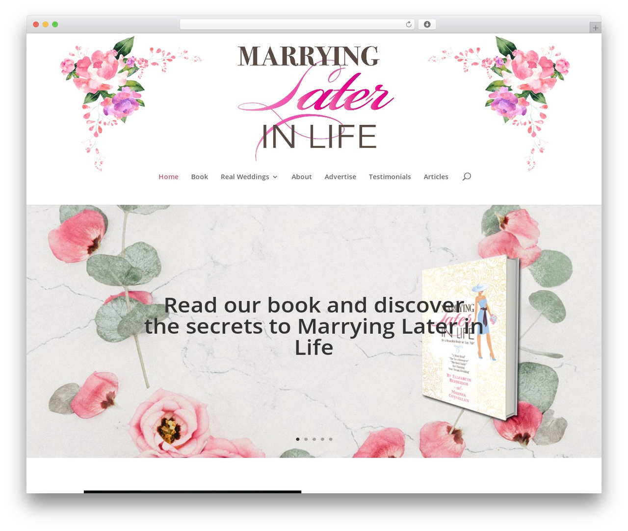 Divi WordPress wedding theme - marryinglaterinlife.com