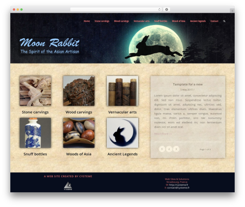 Enfold WordPress theme - moon-rabbit.com