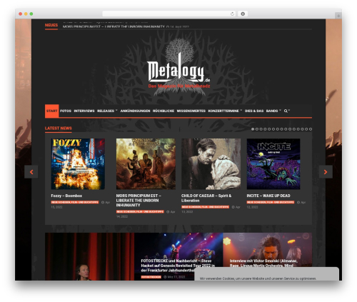 Goliath WordPress theme design - metalogy.de