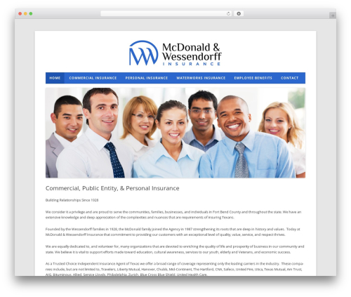 McDonald Wessendorf WordPress theme - mcwess-insurance.com