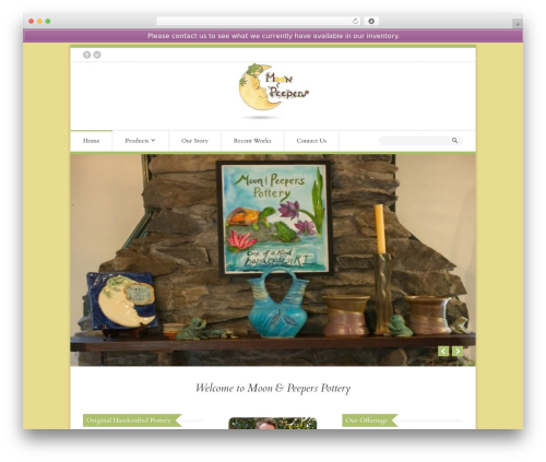 Organic Shop WordPress store theme - moonandpeeperspottery.com