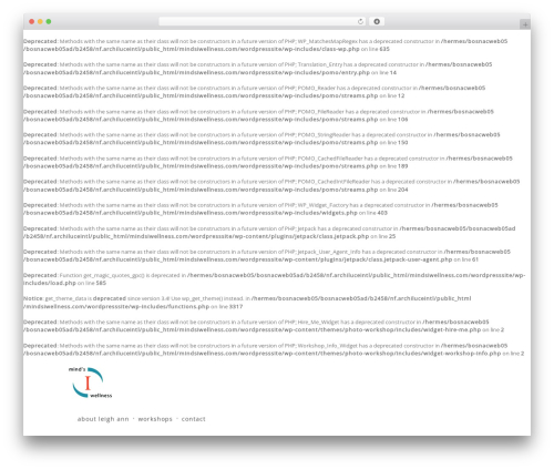 Photo Workshop WordPress shopping theme - mindsiwellness.com