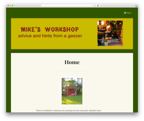 Saga best WordPress template - mikekeck.com