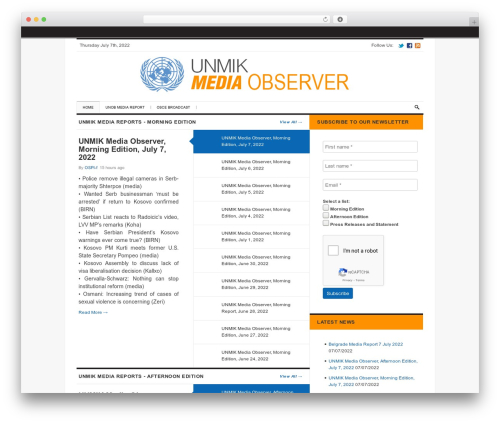 The Daily Press template WordPress - media.unmikonline.org