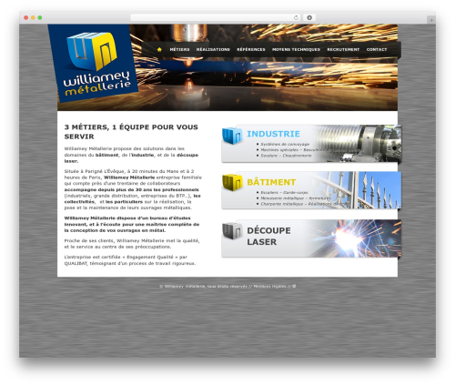 Theme Atmosphère WordPress theme - metallerie-williamey.fr