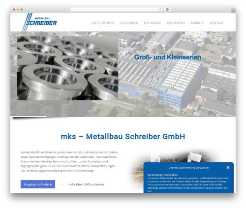 Theme WordPress Megalith - metallbau-schreiber.de