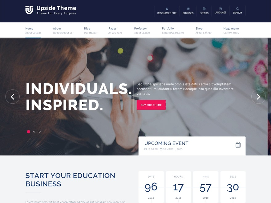 Upside Child newspaper WordPress theme