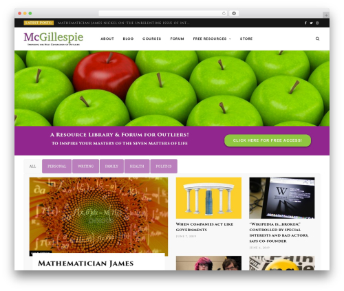 WordPress theme CheerUp - mcgillespie.com