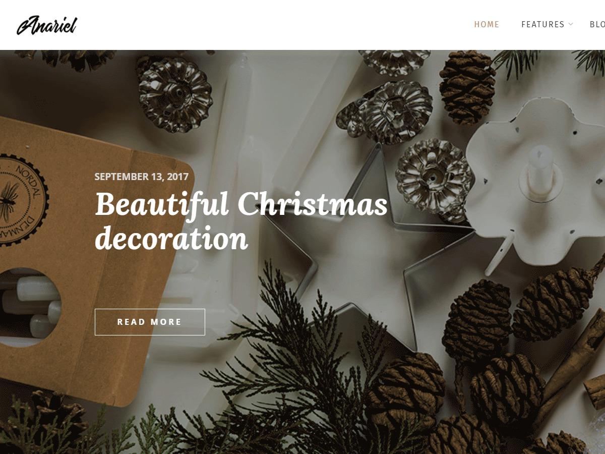 Anariel Lite WordPress blog theme