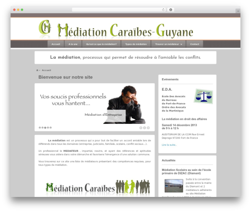 Barely Corporate WP template - mediationcaraibes.com