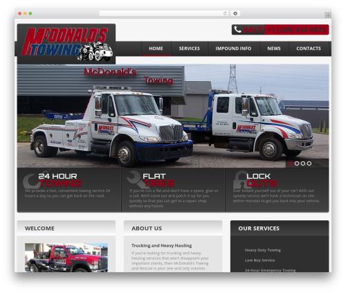 cherry WordPress website template - mcdonaldstowing.com
