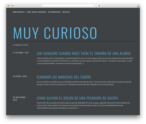Escutcheon free WP theme - mcurioso.com