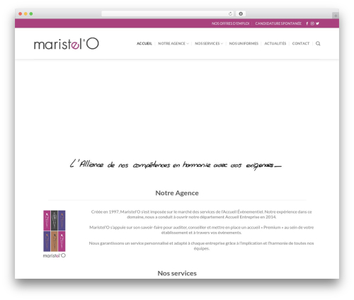 Flatsome WordPress theme - maristelo.com