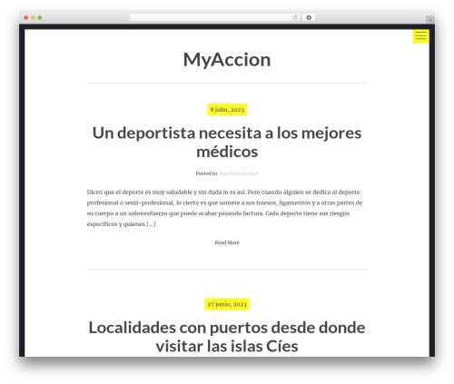 hexo free website theme - muchamyaccion.es