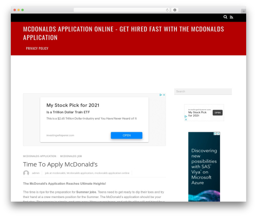 Magazine WordPress theme - mcdonaldsapplicationonline.net