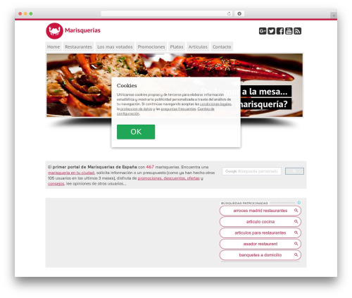 mgTheme WordPress website template - marisquerias.org