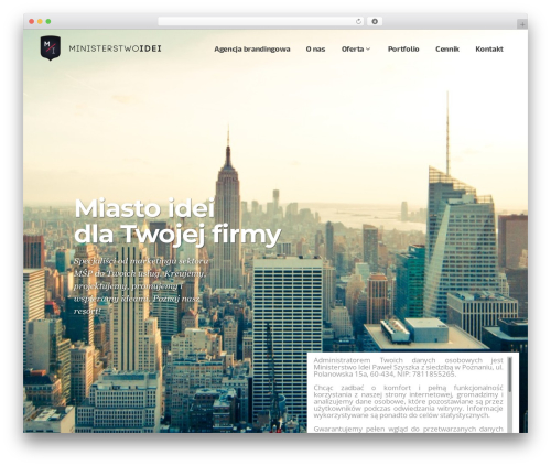 Pitch WordPress template for business - ministerstwoidei.pl