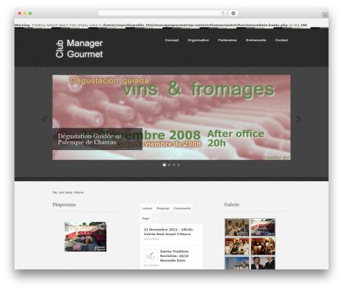 Swatch WordPress theme - managergourmet.com