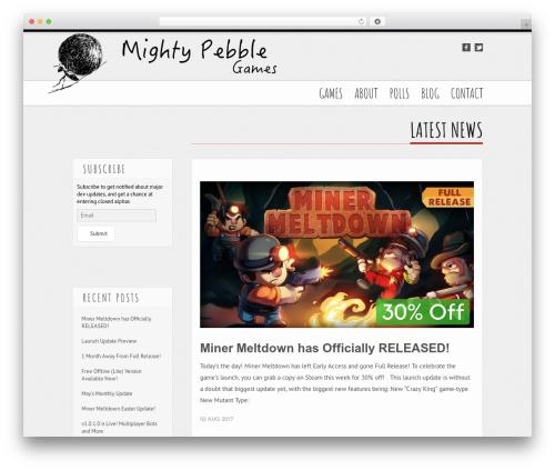 Tesla theme WordPress - mightypebble.com