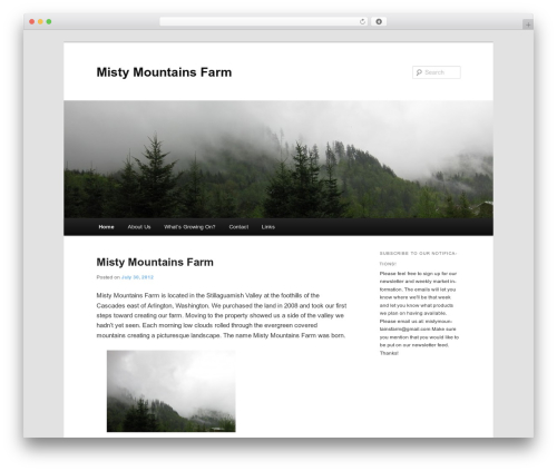 Twenty Eleven template WordPress free - mistymountainsfarm.com