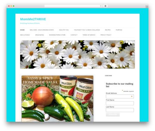 Twenty Twelve theme WordPress free - momme2thrive.com