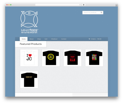 Wootique top WordPress theme - ministees.co.za