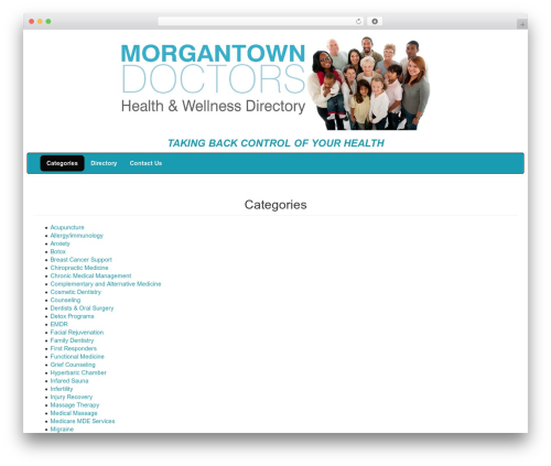 WordPress template DevDmBootstrap3 - morgantowndrs.com