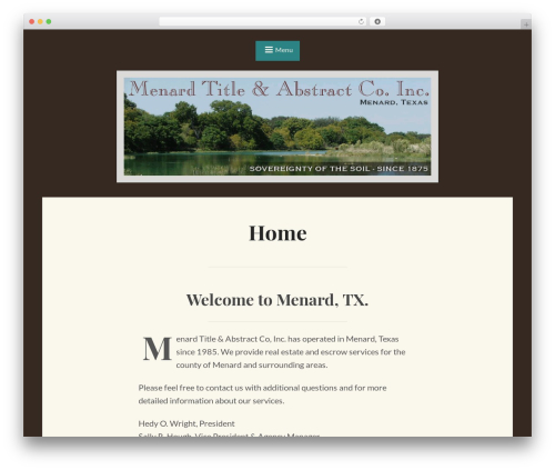 WordPress template Saga - menardtitle.com
