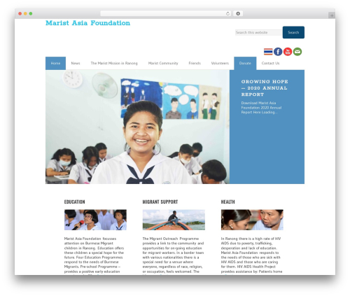 WordPress theme Executive Child Theme - maristasiafoundation.org