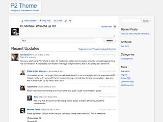 WordPress theme P2 Child