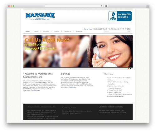 WP template Agivee - marqueepestmanagement.com