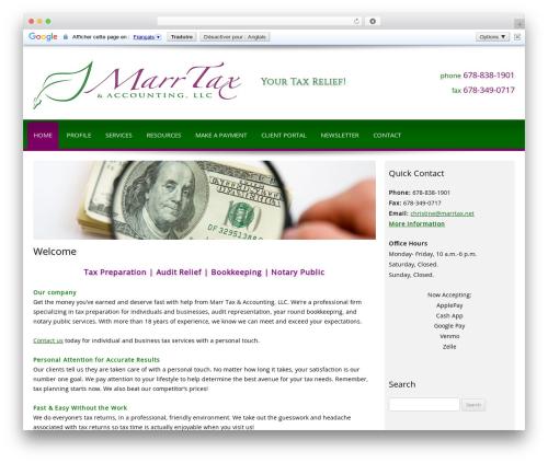 WP template Customized - marrtax.net