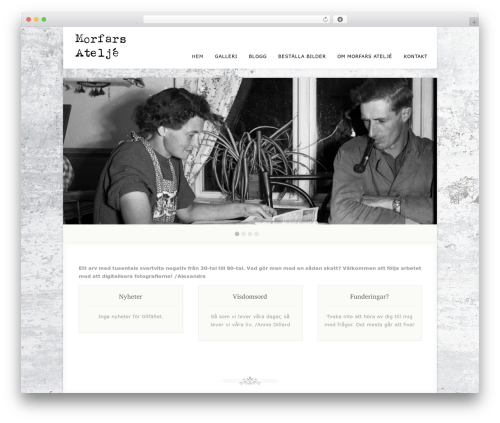 Acoustic theme WordPress - morfarsatelje.se