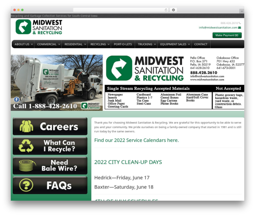 Best WordPress template Gantry Theme for WordPress - midwestsanitation.com