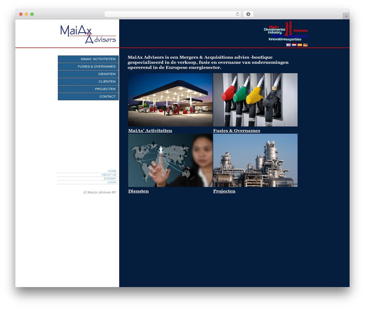 BLANK Theme WordPress theme - maiax.eu