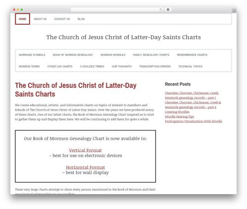 Coverage WordPress theme - mormoncharts.com