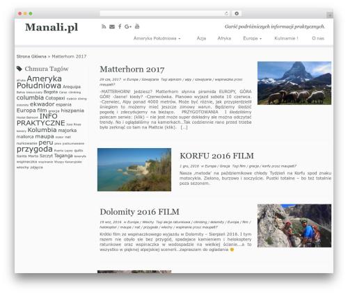 Customizr free website theme - manali.pl