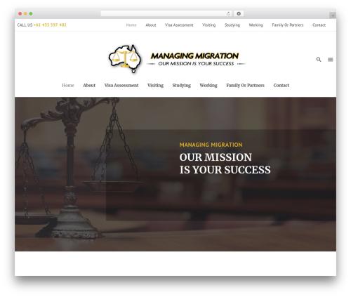 Dejure WP theme - managingmigration.com.au