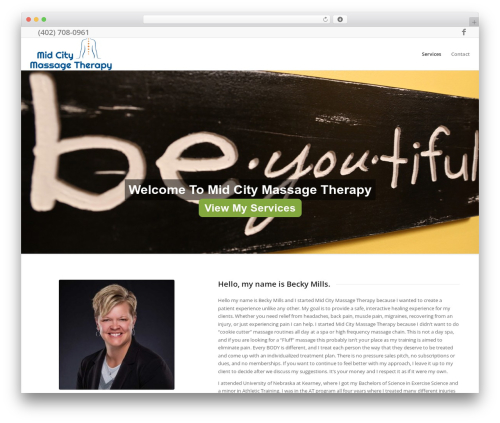 Enfold template WordPress - midcitymassage.com
