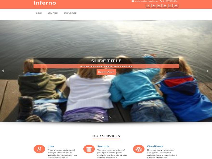 Enigma best portfolio WordPress theme