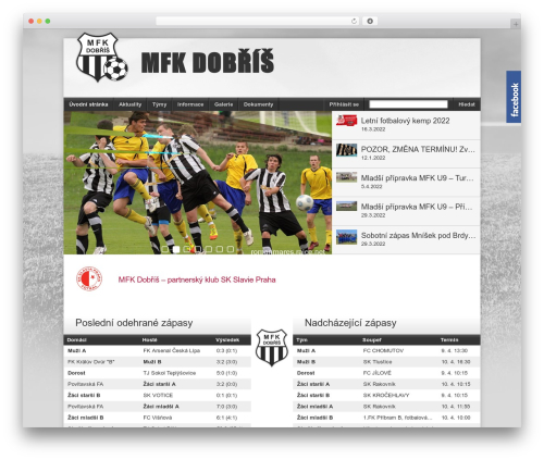 Football Club best WordPress template - mfkdobris.cz