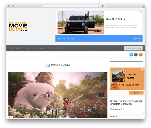Gadgetine Premium Theme WordPress movie theme - moremoviedetails.com