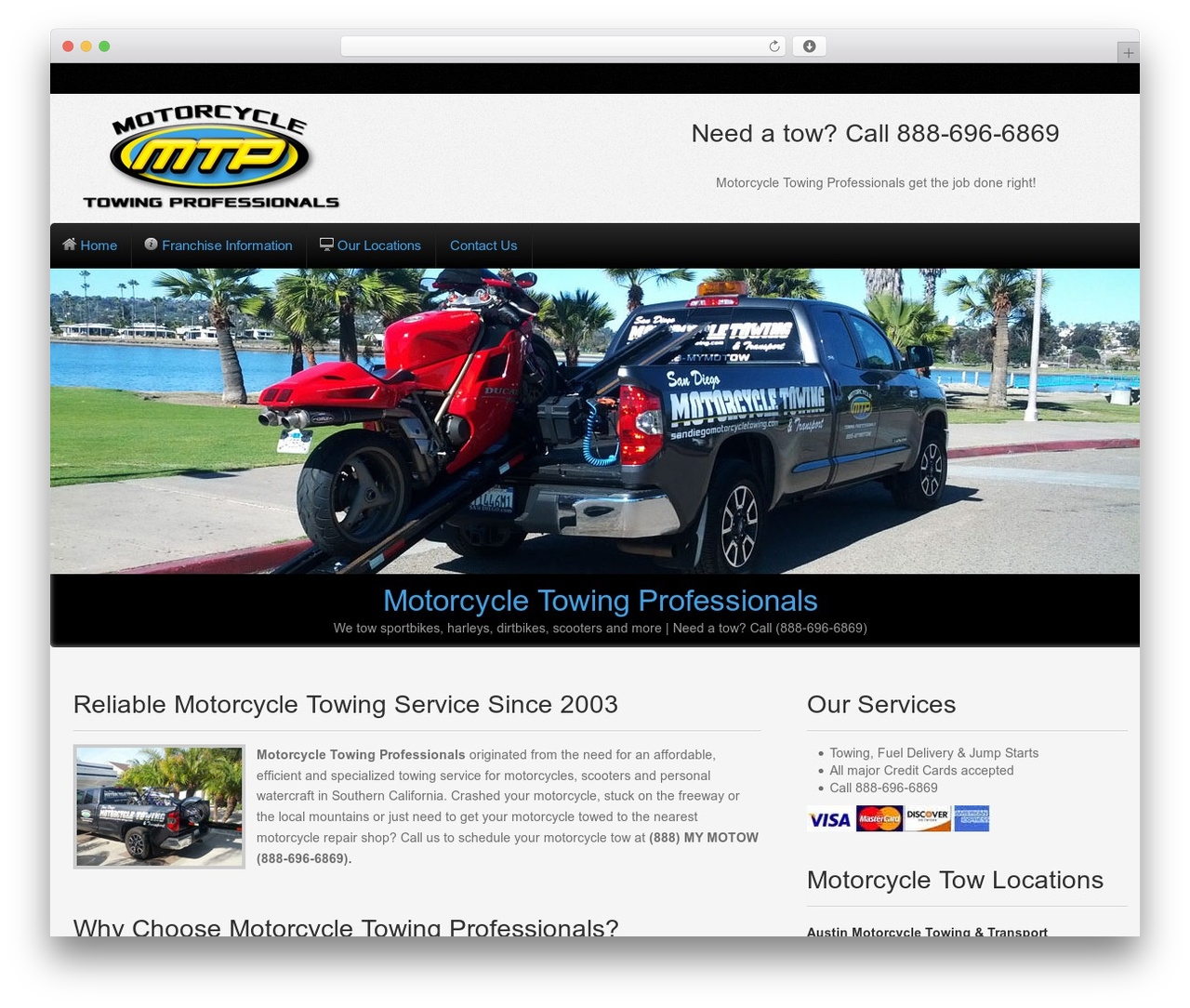 Gantry Theme for WordPress WordPress website template - motorcycletowingprofessionals.com