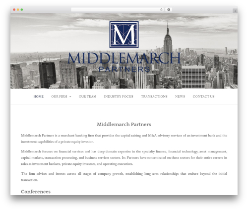 Gateway Plus WordPress template for business - middlemarchllc.com
